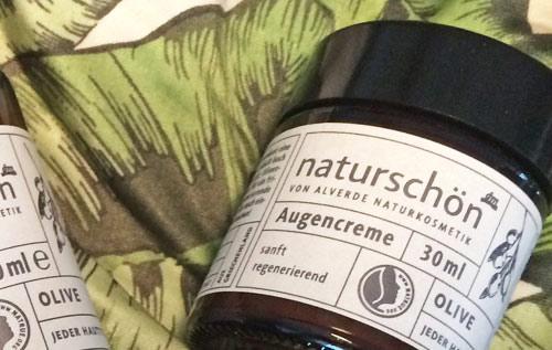 Blog: alverde naturschön - Augencreme Bild: naturalbeauty.de