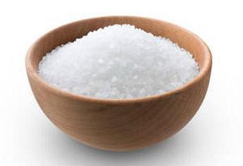 Salz auf unserer Haut