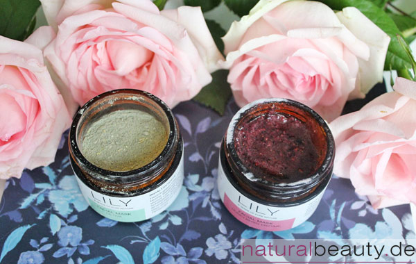 Geöffnet: LILY Naturalcosmetics Facial Mask Detox und Facial Mask Honey Berry Enzyme Bild: naturalbeauty.de