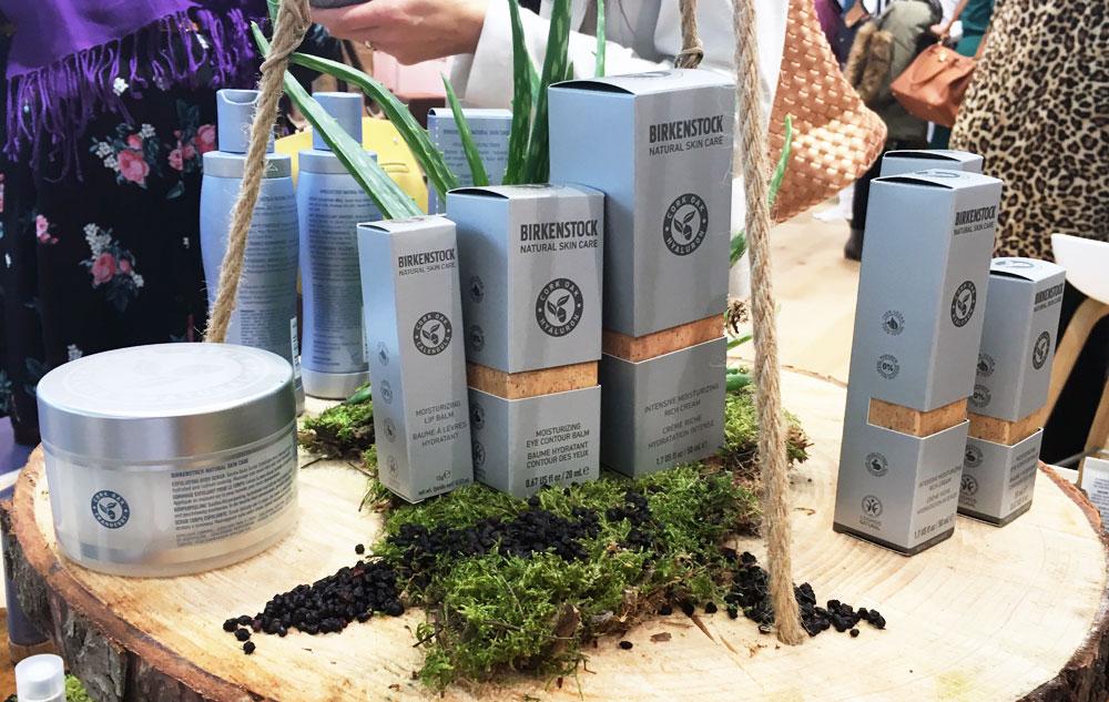 Einige der Produkte von BIRKENSTOCK NATURAL SKIN CARE.