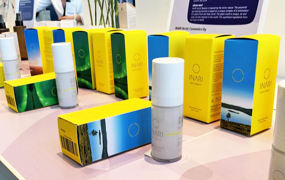 Das Sortiment von INARI Arctic Cosmetics.