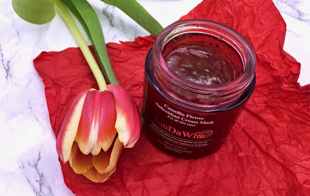 Gesichtsmaske SanDaWha Camellia Flower Antioxidant Cream Mask