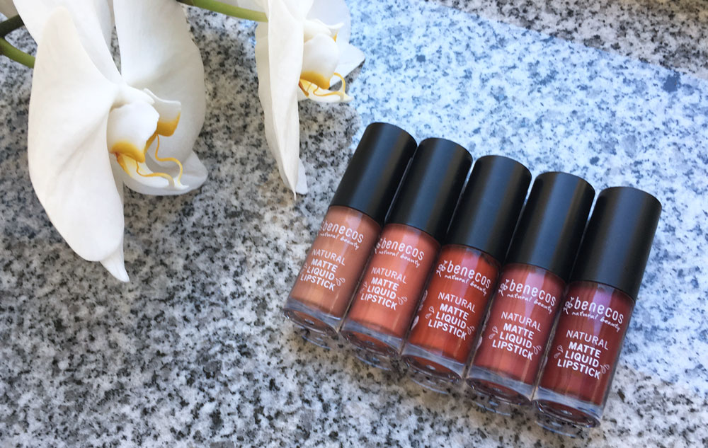 5 Mal Liebe: benecos Natural Matte Liquid Lipsticks
