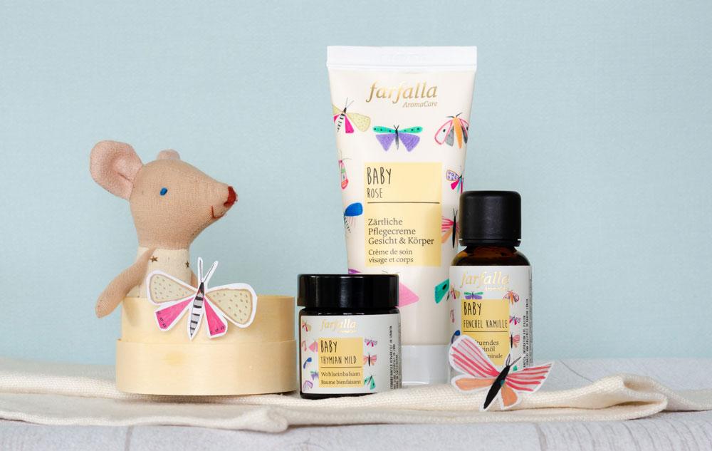 WE LOVE farfalla Babypflege